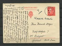 Sweden 1949 Postal Stationary Card To Bielefeld - Postal Stationery