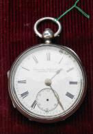 Montre Anglaise à Coq Pour Homme à Réparer - Boîtier Argent -  - Diamètre 5.- Cm. - Signée LANCASHIRE LONDON - Relojes De Bolsillo