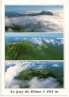 Le Puy-de-Dôme Dans Les Nuages - Multivues -Le Phénomène D'inversion De Température...- Circulée 1998 - Scan Recto-verso - France