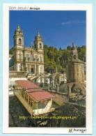 PORTUGAL - MINHO - BRAGA BOM JESUS FUNICULAIRE ASCENSEURS LIFT CPM POSTCARD - Braga