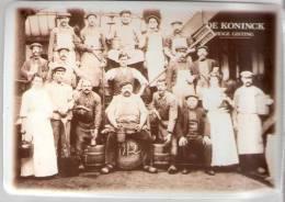 Brouwerij-Brasserie DE KONINCK-Bier-Bière-Beer-1912-(1ste Versie)-Metalen Promotiekaart (10*14,5cm)-De Oorsprong - Advertising (Porcelain) Signs