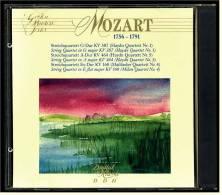 CD -  Wolfgang Amadeus Mozart  -  3 Streichquartette  -  Golden Master Serie Nr. 500.105 - Classical