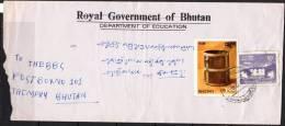 S630.-. BHOUTAN / BHUTAN .- .1970`S  .-. LOCAL USED COVER - CHAPCHA  DZONG - Bhutan