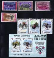 1968  Jeux Olympiques De Mexico  Michel 254-60 Bloc 13 * - Umm Al-Qaiwain