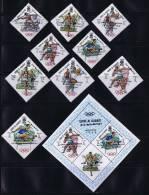1968  Jeux Olympiques De Mexico  Lancers, Course, Basketball Médaillés D'or Michel 285-93  Bloc 15A * - Umm Al-Qaiwain