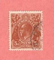 AUS SC #120  King George V CV $2.25 - Used Stamps
