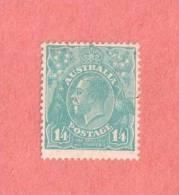 AUS SC #124  King George V   w/very light cancel