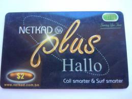 Brunei JTB Netkad Plus Hallo Net Access & Calling Card  Prepaid Exp: 01/2004 $ 2 Used - Brunei