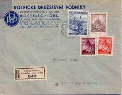 BOHEME ET MORAVIE-BEL AFFRANCHISSEMENT DE KOSTELEC RECOMMANDE LE 31-7-1941. - Cartas
