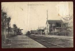 Cpa  Du 95  Taverny  La Gare   2LIO5 - Taverny