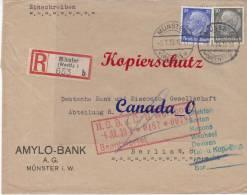 B  -1-  R-Brief V. Münster(Amylo-Bank)  N. De.Bank Berlin  Mi.# 490 MiF   5.7.1933 - Covers & Documents