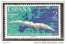 ESPAÑA 1970 - CAMPEONATO EUROPEO DE NATACION SALTOS Y WATERPOLO - EDIFIL Nº 1989 - YVERT 1644 - 1931-Aujourd'hui: II. République - ....Juan Carlos I