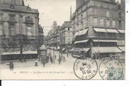 ROUEN - Les Quais Et La Rue Grand Pont - Rouen