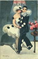 Chiostri Carlo - Carnival, Art Deco, 1927., Ballerini & Fratini No.197 - Chiostri, Carlo