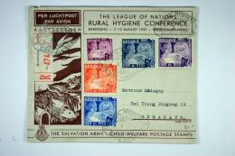 Netherlands Indies, 1937 Rural Hygiene Conference, Salvation Army  Child Welfare Stamps