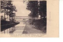 Pouilly En Auxois : La Ligne D'Epinac Aux Laumes Franchissant Le Bief Du Canal De Bourgogne (Editeur Tribet) - France