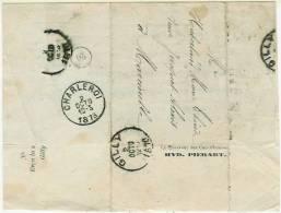 Document Administrat. De Gilly 2 Oct 1878 Vers Charleroi 2 Octo 1878 - Belgique