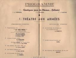 THEATRE   AUX   ARMEES   &   MEAUX  ,  LE  21  DECEMBRE   1939 - Programas