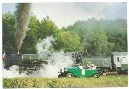 CPM Train à Vapeur Spécial IFC à Thoré La Rochette 28 Septembre 1986 Avec Vieux Tacot Loir Cher 41 Tampon Vendôme Au Dos - Altri Comuni