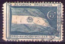ARGENTINA- Etichetta Pro Aviazione Militare 1912-Usata -VEDERE FOTO- - Argentina