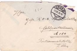 Feldpost WW2: Early Feldpost In War To Brücken-Kolonne B 645 FP 06180 - Postsammelstelle Wien Dtd Wien 56 30.9.1939 - On - Militares