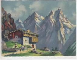 Alpes Françaises, Cabane Dans Les Montagnes, Berghof, Bauernhof, Farm - France