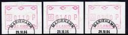 ALAND ISLANDS 1984 ATM Labels Set Of 3 Values Used  Michel 1 - Aland