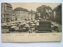 Cpa, Carte Primaire, Marché, Am Hof, Städt Feuerwehr, Altes Zeughaus, Radetzky Monument, Wien I - Unclassified