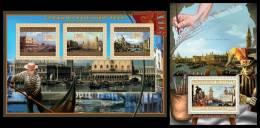 GUINEA 2012 - Great Italian Masters (V): Canaletto. M/S + S/S. Official Issue - Non Classificati