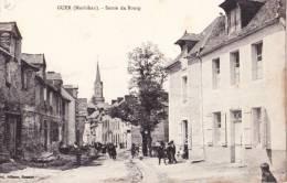 GUER - Sortie Du Bourg - CPA TBon Etat (voir Scan) - Guer Coetquidan