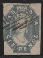 AUSTRALIA/TASMANIA 1857/60 - Yvert #13 - VFU - Gebruikt