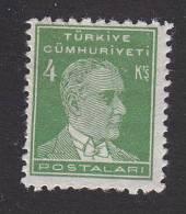 Turkey, Scott #1023, Mint Hinged, Ataturk, Issued 1951 - 1921-... Republik