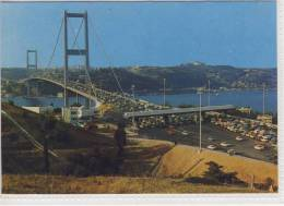ISTANBUL - The View Of Bosborus Bridge From Beylerbeyi Village - 1979, Firmenfreistempel Sheraton Hotel - Turchia