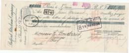 213/20 - Mandat à Ordre PARIS 1910 - Entete Bedford PETROLEUM Company  - TP Fiscal 5 C. - Revenue Stamps