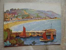 UK    LOOE -   The Banjo Pier -  Signed Anne Croft  D101341 - England