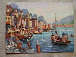 UK    LOOE -   The Harbour  -  Signed Anne Croft  D101342 - England