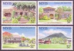 Saint Kitts And Nevis 1985 Holidays Hotels And Inn Architecture Buildings Stamps MNH Michel 228-231 Nevis 280-283 - St.Kitts And Nevis ( 1983-...)