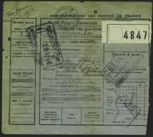 Bulletin D´un Colis Postal De 8 Mai 1926 De 5 Kilos, Sur Le Verso  Instructions A Donner Par L´Epediteur Voit Scans, - Algérie (1924-1962)