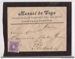 ESCA250-LC115TPUO.Exportador De Garbanzos.CARTA DE  PIEDRAHITA (Avila) A AVILA..Manuel De Vega.1906.(Ed 250).MUY BONITA - Publicidad