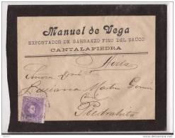 ESCA250-LC115TPUO.Exportador De Garbanzos.CARTA DE  PIEDRAHITA (Avila) A AVILA..Manuel De Vega.1906.(Ed 250).MUY BONITA - Otros