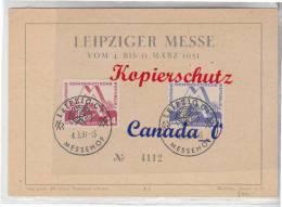 B   2  -- FDC Leipz.Messe Mi# 282-283  So-O Messehof  4.3.1951 - Covers & Documents