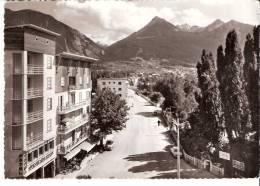 Briançon-(Hautes-Alpes)-L'Avenue De La Gare Et Les Hôtels-Hôtel Mont-Brison-Photo Véritable - Briancon