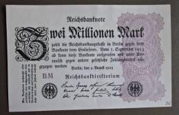 Banknote Papermoney Deutsches Reich 2 Millionen Mark Bill Germany Billet Allemagne - [ 3] 1918-1933 : Weimar Republic