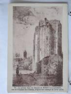77 - Moret En Gâtinois - La Grosse Tour Ou Donjon Vue De L'impasse Du Château - Estampe Du XVII° - Scan Recto-verso - Moret Sur Loing