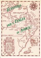 MILITARI SOLDATI COLONIALI ESERCITO GIUSTIZIA PER L'ITALIA IN AFRICA CARTINA TABULA NOVA AFRICA ORIENTALE- AUTENTICA - Patrióticos