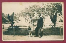 A11011 / Varna Warna - 1929 Real Photo Woman With Long Hair And A Man FOUNTAIN IN THE SEA GARDEN Bulgaria Bulgarie - Bulgaria