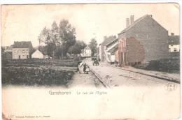 Ganshoren  La Rue De L'Eglise, Circulée 1907?? Voir 2 Scans Pour état. - Ganshoren