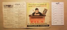 VECCHIO PIEGHEVOLE FILA - FORMULARIO DI GEOMETRIA - - Pubblicitari