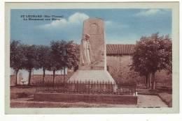 Cpa  St Leonard  Monument Aux Morts - Otros Municipios