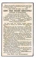 MARIALOOP (Meulebeke)  - WAARMAARDE - MOORSELE - POELKAPELLE  , Doodsprentje Van PASTOOR Medard GERMONPREZ  + 1945 - Documentos Históricos